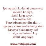 Ipinagpalit sad tagalog quotes