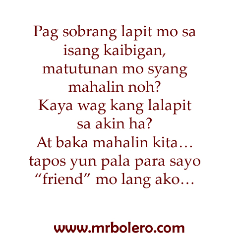 love friend tagalog quotes