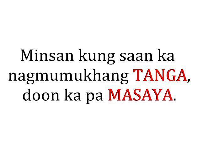 Tanga tagalog quotes
