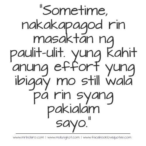Love Sad Quotes For Him Tagalog: Tagalog Sad Love Quotes And Sayings