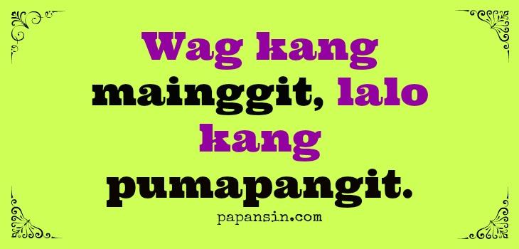 Inggitera Tagalog Quotes