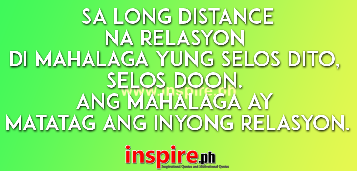 Long Distance Tagalog quotes