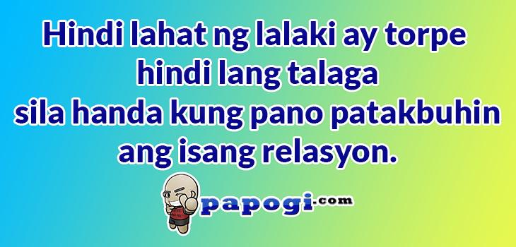 Torpe Relasyon tagalog quotes