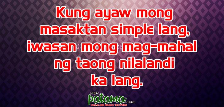 Nilalandi Pagkatao Pangako Sikreto Patama Tagalog Quotes