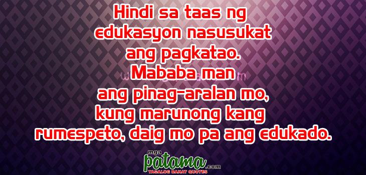 Pagkatao Pangako Sikreto Patama Tagalog Quotes