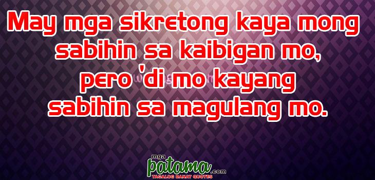 Sikreto Patama Tagalog Quotes