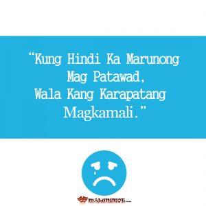 Tagalog Best sad qoutes