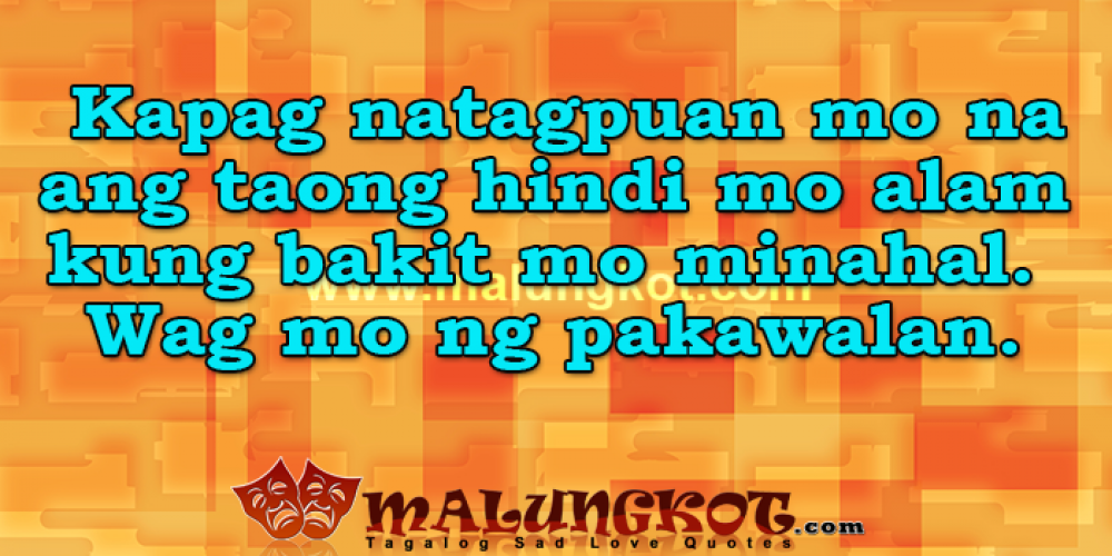 English – Tagalog Love Quotes