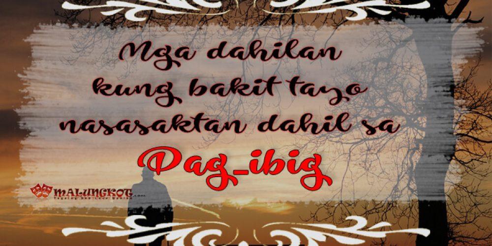 Mga dahilan kung bakit tayo nasasaktan dahil sa pag-ibig.