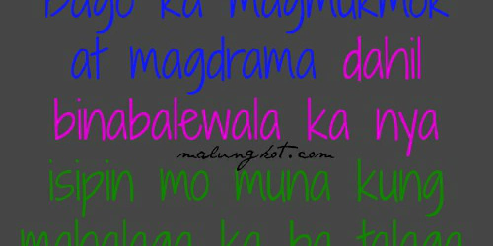 Break up Tagalog Quotes