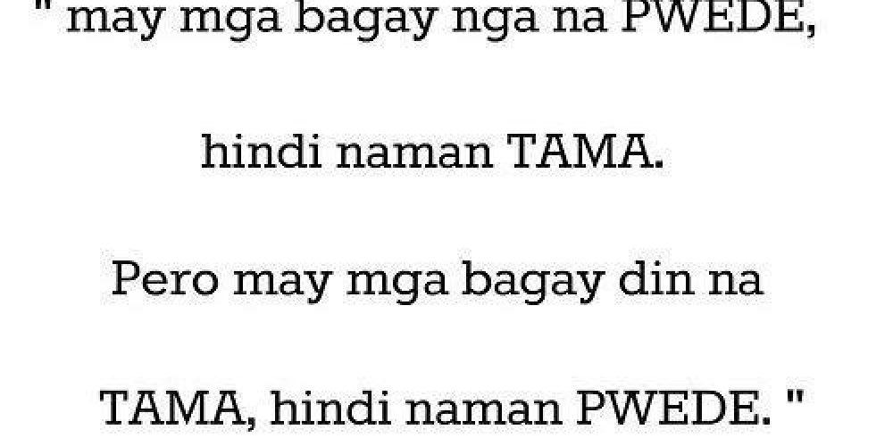 Sad Quotes Tagalog – Tama at Mali